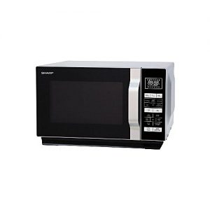 Sharp 23 Litre Freestanding Microwave Oven 900w 1000w Quartz Grill Flat Tray Stainless Steel 13 Auto Menus